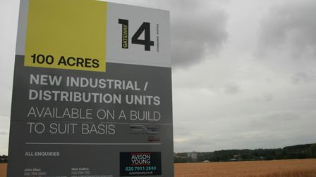 The Gateway 14 development site at Cedars Park in Stowmarket Picture: MID SUFFOLK DISTRICT COUNCIL