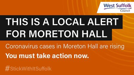 West Suffolk Council has issued a coronavirus alert for Moreton Hall in Bury St Edmunds. Picture: WEST SUFFOLK COUNCIL