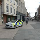 Police patrolling Ipswich town centre in April Picture: SARAH LUCY BROWN