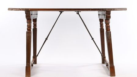A fine 16th Century walnut Spanish table, circa 1580 which fetched £6,000 at auction. Picture: BISHO