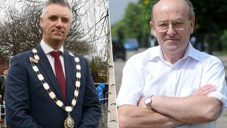 The mayor of Bury St Edmunds, Peter Thompson and Moreton Hall councillor Trevor Beckwith are urging residents to take this...