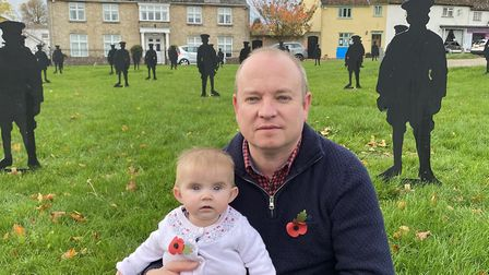 Kieron Palmer of Palmers Bakery with his six-month-old daughter Alexandra Picture: KIERON PALMER