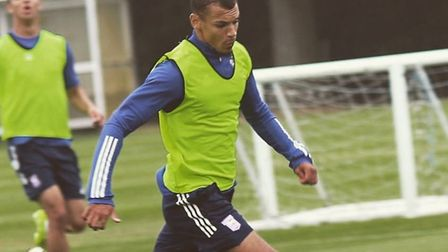 Kayden Jackson is back in training after testing positive for coronavirus. Photo: ITFC