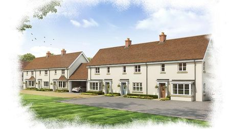 Orchard Brook housing development in Long Melford. Picture: Picture: NICHOLAS KING HOMES PLC/BABERGH