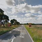 The A1065 is partially blocked following a crash this morning Picture: GOOGLE MAPS