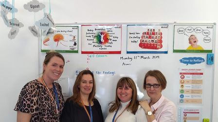Staff at Thomas Arnold Primary School are celebrating the recognition from Thrive. Picture: Thrive