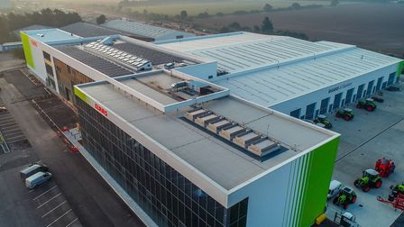 CLAAS UK's new headquarters at Saxham, near Bury St Edmunds, which as officially opened on Friday, O
