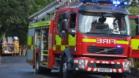 Five fire engines are at the scene of kichen fire in Haverhill (stock image) Picture: SUFFOLK FIRE A