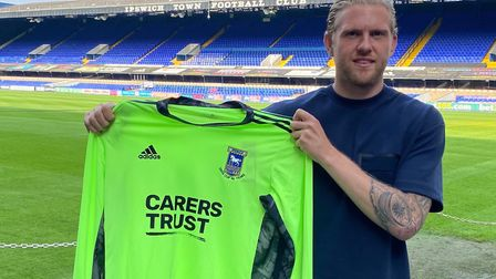 David Cornell arrived at Ipswich Town on a free transfer from Northampton Town. Photo: ITFC