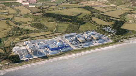 A CGI of what the Sizewell C nuclear power station will look like Picture: EDF Energy