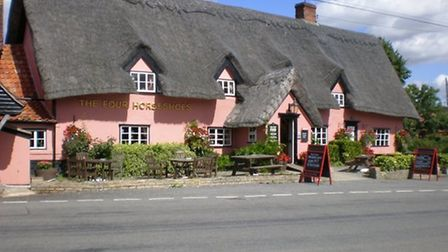The Four Horseshoes, one of Suffolk's most haunted pubs Picture: Archant Archives