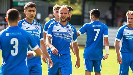 Leiston players are hoping that this weekend's FA Cup game against Barnet still goes ahead. Picture: