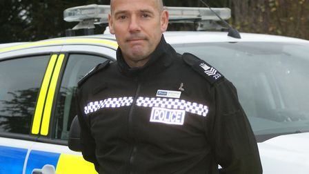 Sgt Brian Calver of the rural crime team Picture: SARAH CHAMBERS