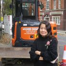 Defiant... Susannah Kow... stopped digger in its tracks. Picture: Mike Brooke