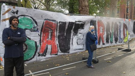 Protest to stop historic Arnold Circus being churned up. Picture: Mike Brooke