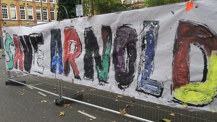 Another protest to save Arnold Circus due Monday morning, October 26. Picture: Mike Brooke