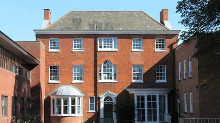 The listed house that is part of the former offices of Mid Suffolk District Council in Needham Marke