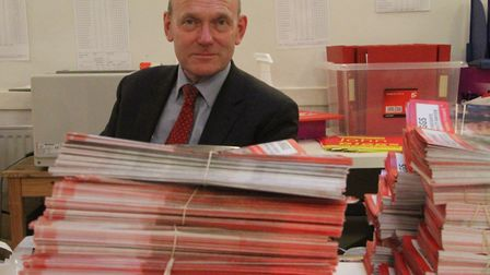 John Biggs at Labour Party campaign HQ in Bethnal Green winning election for mayor in 2015. Picture:
