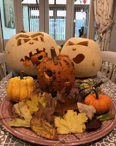 The Hilling family's pumpkins. Picture: HILLING FAMILY