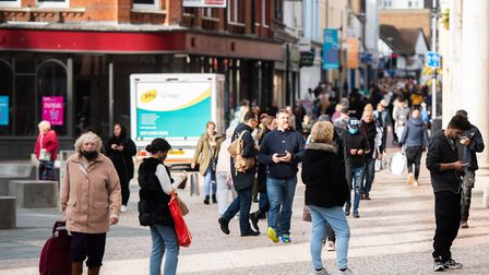 Shoppers hit Ipswich High Street on Monday, November 2 ahead of the second national lockdown Pictur