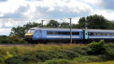 Greater Anglia train on the Norwich to London service. Photo: Bill Smith