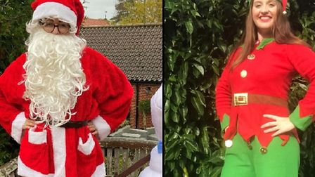 Can you help Santa and his elves to raise money for East Anglia's Children's Hospices? Pictured are