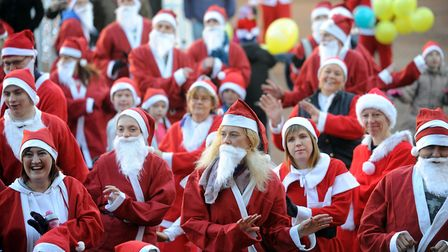 A previous Santa Run in Ipswich in aid of East Anglia's Children's Hospices. Similar events can't go
