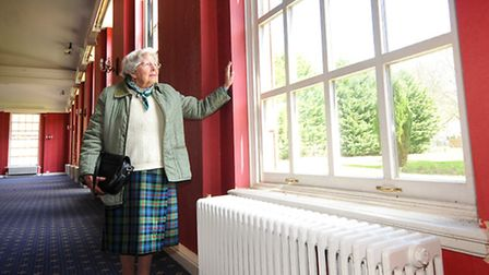 Joan Osborne Walker revisiting RAF Coltishall. Pictured in the Officers' Mess.PHOTO: ANTONY KELLY