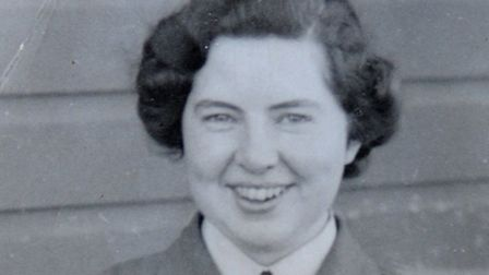 Joan Osborne Walker revisiting RAF Coltishall. Pictured in 1943.PHOTO: ANTONY KELLY
