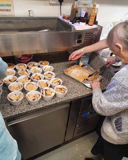 Flo Osborne, 89, has been cooking pies for the elderly and vulnerable during the lockdown in Harwich. Picture: LES NICOLL