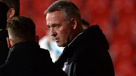 Ipswich Manager Paul Lambert at Doncaster Rovers. Picture Pagepix Ltd