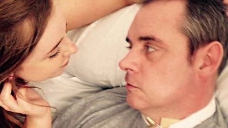 Simon Dobbin's daughter Emily pictured with her dad, who received devastating injuries in the attack