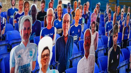 Ipswich Town fans have had to send cardboard cut-outs of themselves to attend games at Portman Road