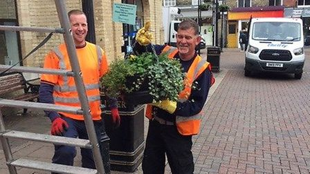 Bury in Bloom, Bury St Edmunds Town Council and West Suffolk Council have worked together on the win