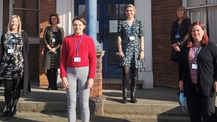 The new cancer care navigator team which will work across Ipswich and Colchester hospitals. Picture: