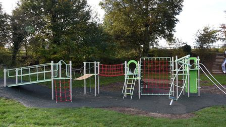 The new multi-play equipment in Saxmundham cost £32,000. Picture: CHARLOTTE BOND