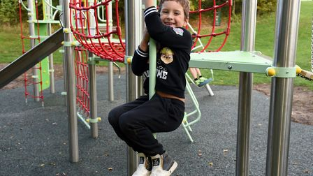"""Pauline White said the new Saxmundham Adventure Playground equipment """"enables a lot of children to h"""