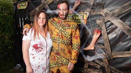 Rebekah Gooch and Lorrie Thackeray ready for Halloween Picture: SARAH LUCY BROWN