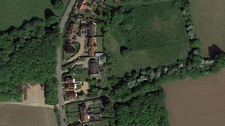 The homes are set to be built in Wetheringsett Picture: GOOGLE EARTH