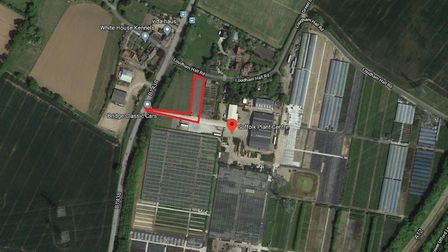 The site in Pettistree set to become a self-storage facility. Picture: GOOGLE MAPS