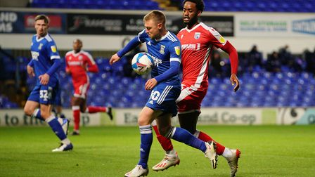 Freddie Sears runs into the box early on but couldnt take his chance. Picture: Steve Waller