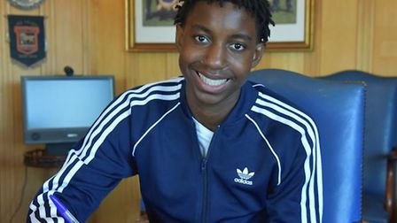Midfielder Tawanda Chirewa has signed his first professional contract at Ipswich Town Picture: ITFC