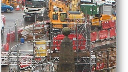 Work currently undergoing on the bridge to investigate the crack at Colchester's Cowdray Avenue brid