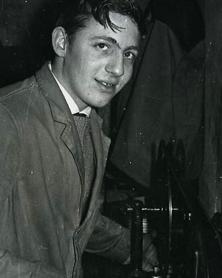 Pat Church.as a young projectionist Photo: Pat Church