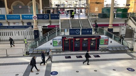 Only a fraction of normal passengers are using London's Liverpool Street station. Picture: NETWORK R