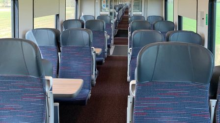 At the height of the lockdown near-empty trains were travelling between Norwich and London. Picture: