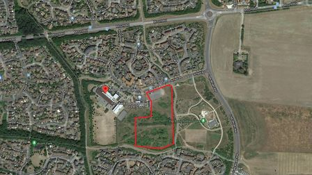 Land on the Moreton Hall estate in Bury St Edmunds where a new special educational needs and disabil