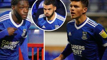 Zanda Siziba, Allan Viral and Ross Crane were among the Ipswich Town youngsters to make their debuts