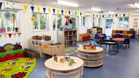 The new interior inside the new building for Horringer Pre-School Picture: Rebecca Bacon