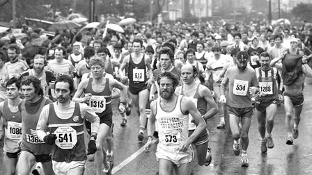 The Black Dog Marathon in Bungay in April 1983 Picture: ARCHANT